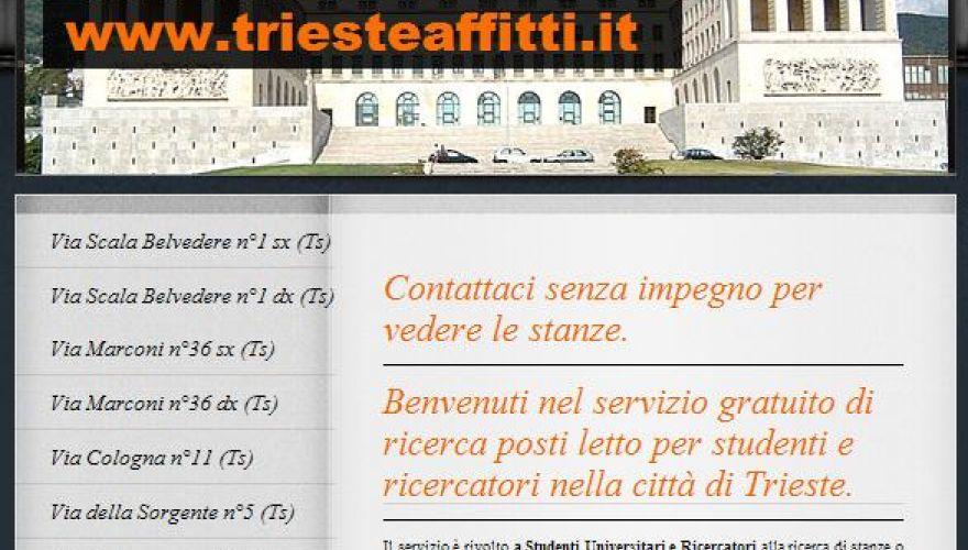 Trieste: affittasi stanze singole e doppie a studenti universitari dal 01 ottobre 2015